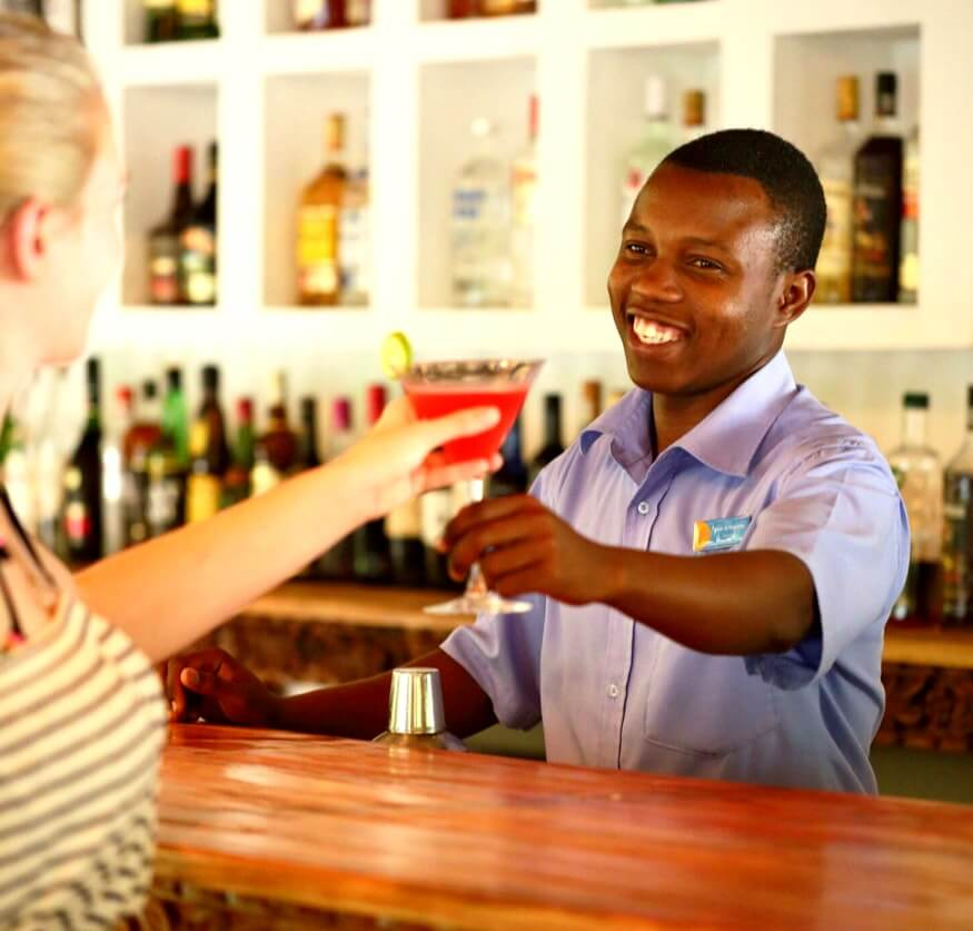 Man serving a cocktail
